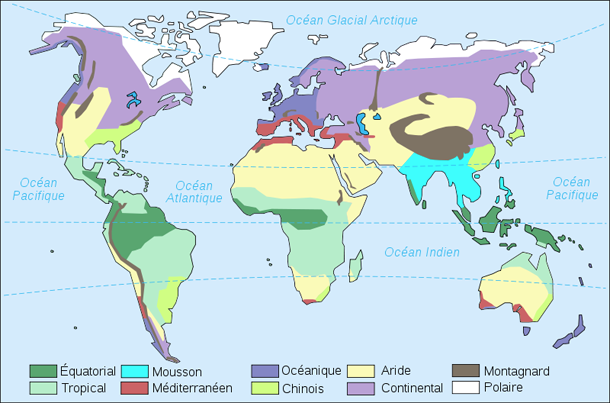 climat carte